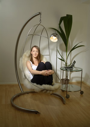 Nirvana hanging chairs hand crafted stainless steel